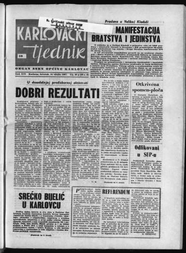 Karlovački tjednik: 1967 • 10