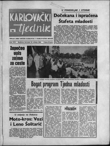 Karlovački tjednik: 1968 • 20