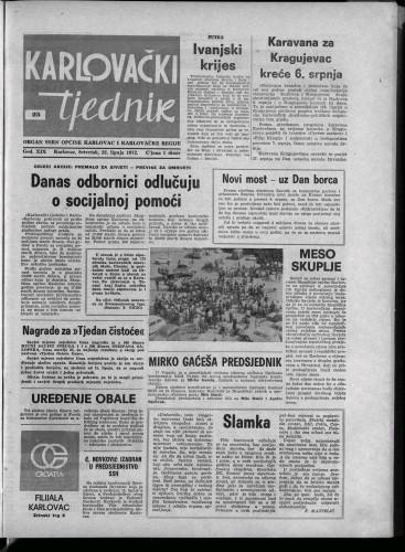 Karlovački tjednik: 1972 • 25