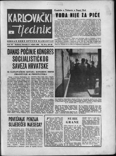Karlovački tjednik: 1966 • 6