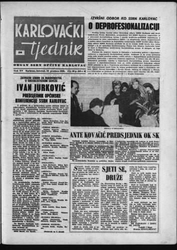 Karlovački tjednik: 1966 • 50