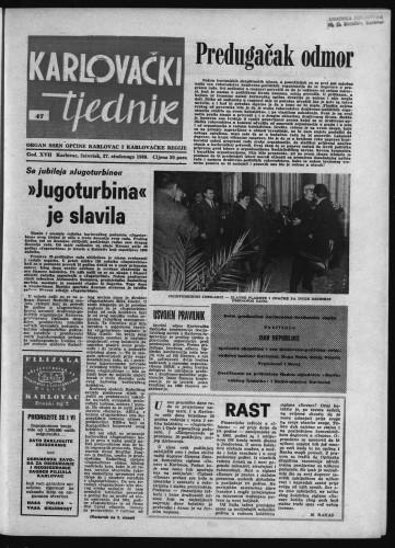 Karlovački tjednik: 1969 • 47