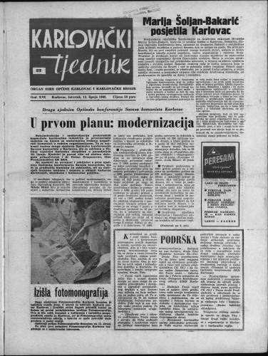 Karlovački tjednik: 1968 • 23