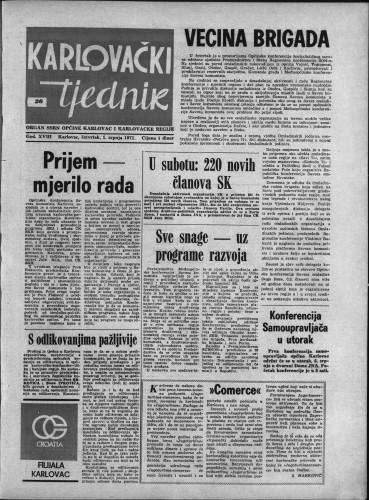 Karlovački tjednik: 1971 • 26