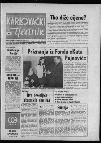 Karlovački tjednik: 1972 • 12