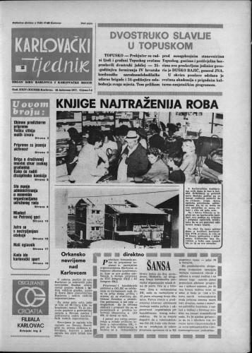 Karlovački tjednik: 1977 • 33