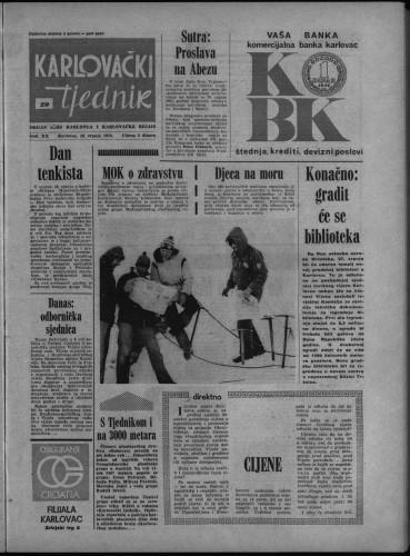 Karlovački tjednik: 1974 • 29