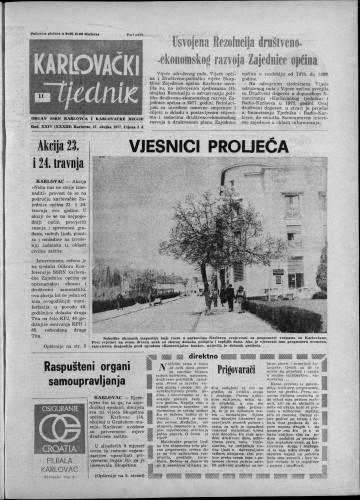 Karlovački tjednik: 1977 • 11