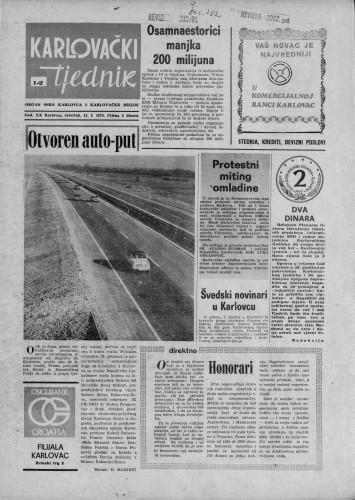 Karlovački tjednik: 1973 • 1/2
