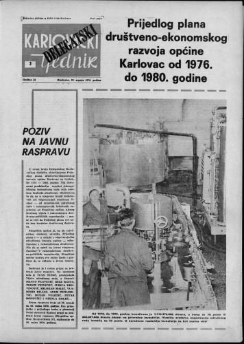 Karlovački tjednik: 1976 • 30