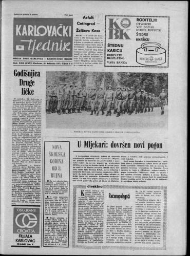 Karlovački tjednik: 1975 • 35