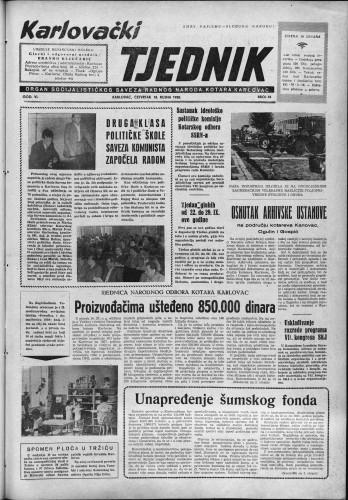 Karlovački tjednik: 1958 • 38