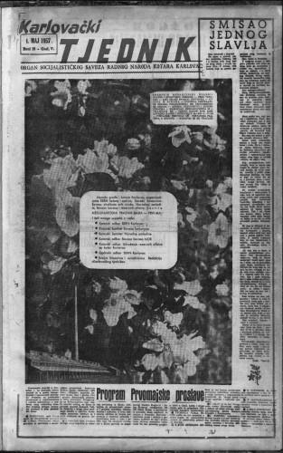 Karlovački tjednik: 1957 • 18