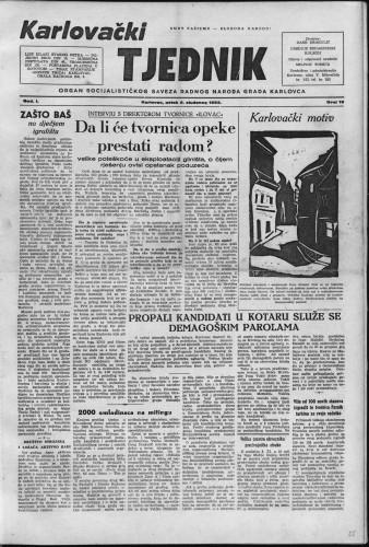 Karlovački tjednik: 1953 • 19
