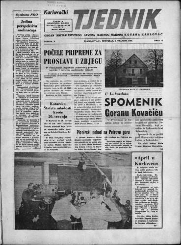 Karlovački tjednik: 1962 • 13
