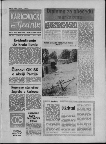 Karlovački tjednik: 1973 • 23