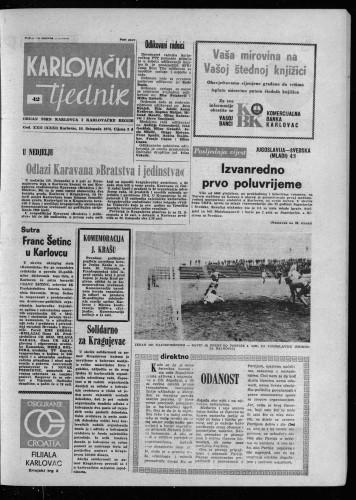 Karlovački tjednik: 1975 • 42