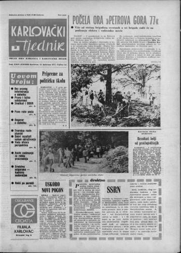 Karlovački tjednik: 1977 • 32