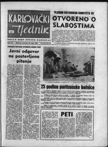 Karlovački tjednik: 1966 • 38