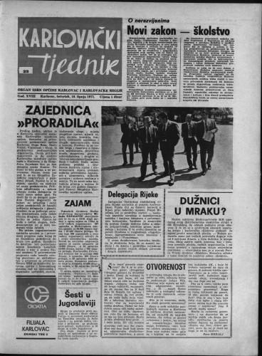 Karlovački tjednik: 1971 • 23