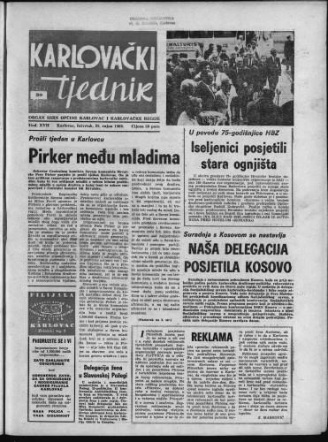 Karlovački tjednik: 1969 • 38