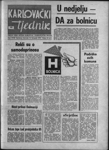 Karlovački tjednik: 1970 • 41