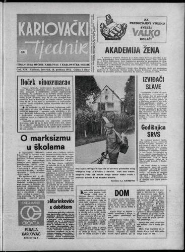 Karlovački tjednik: 1972 • 50