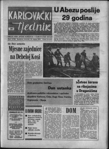 Karlovački tjednik: 1970 • 29