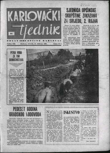 Karlovački tjednik: 1964 • 34