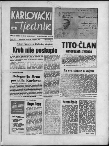 Karlovački tjednik: 1968 • 22