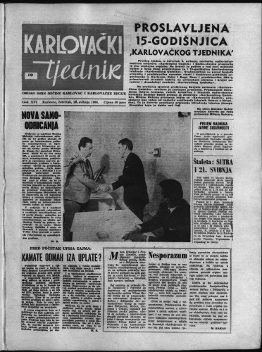 Karlovački tjednik: 1968 • 19