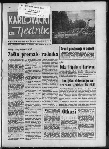 Karlovački tjednik: 1967 • 34