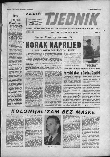 Karlovački tjednik: 1961 • 38