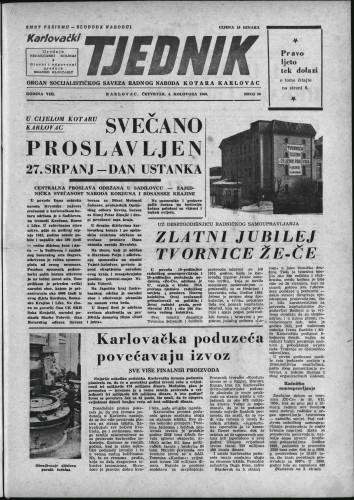 Karlovački tjednik: 1960 • 30