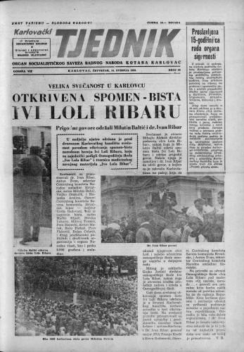 Karlovački tjednik: 1959 • 20