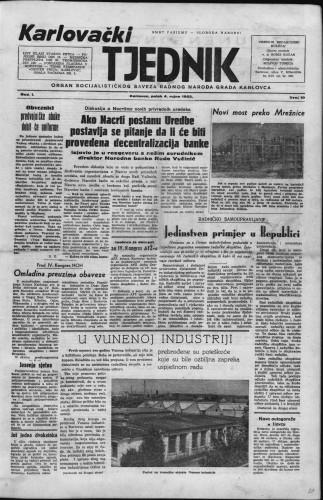 Karlovački tjednik: 1953 • 10