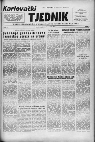 Karlovački tjednik: 1954 • 8