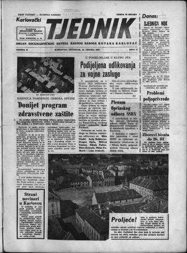 Karlovački tjednik: 1962 • 11