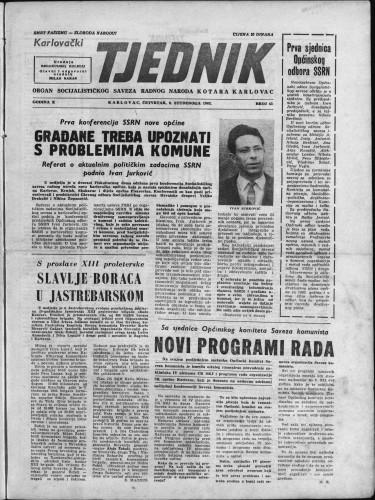 Karlovački tjednik: 1962 • 43