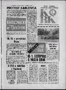 Karlovački tjednik: 1973 • 42