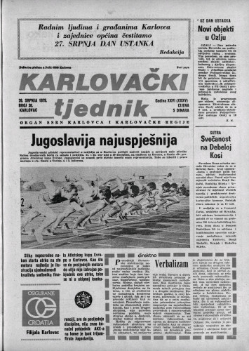Karlovački tjednik: 1979 • 30