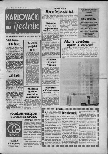 Karlovački tjednik: 1976 • 27