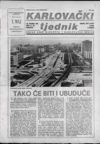 Karlovački tjednik: 1979 • 17