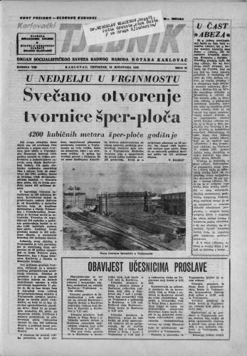 Karlovački tjednik: 1959 • 33