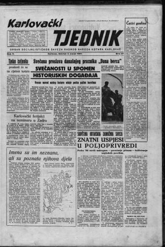 Karlovački tjednik: 1957 • 27