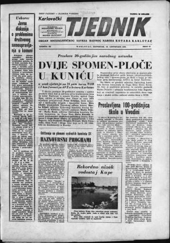 Karlovački tjednik: 1961 • 41