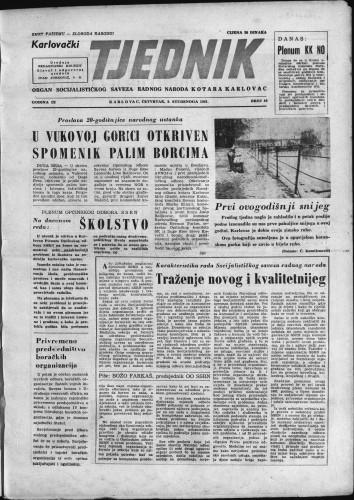 Karlovački tjednik: 1961 • 44