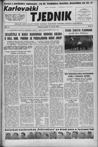 Karlovački tjednik: 1954 • 16