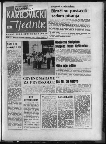 Karlovački tjednik: 1967 • 48