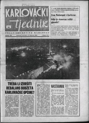 Karlovački tjednik: 1964 • 32